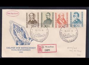 Bund, FDC. Mi.-Nr. 222-225