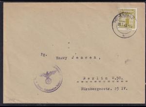 DR., Dienst-Brief mit EF. Mi.-Nr. 152