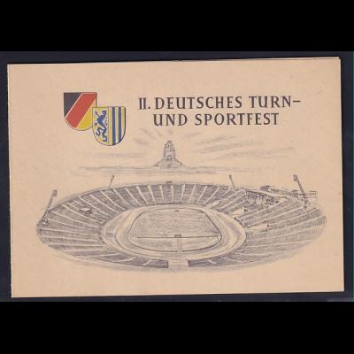 DDR - Gedenkblatt, II. Deutsches Turn- und Sportfest C2-1956 a