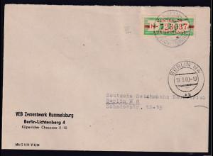 DDR. ZKD-Brief, .EF. Mi.-Nr. Dienst -B 30 II M