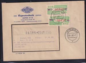 DDR. ZKD-Brief, .MeF. Mi.-Nr. Dienst-B 24 X