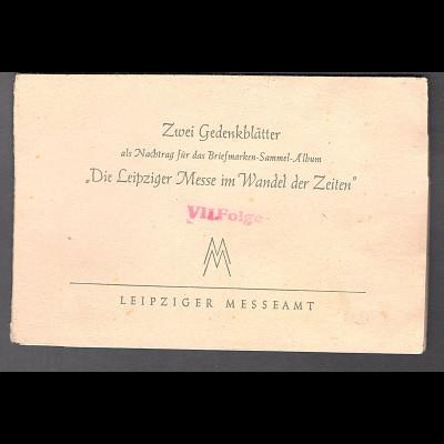 DDR - Gedenkblatt, Die Leipziger Messe im Wandel der Zeiten.