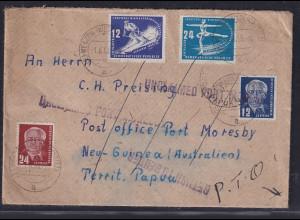 DDR.,Auslandsbrief nach Neu-Guinea, mit MiF. Mi.-Nr. 246,247 u.a.