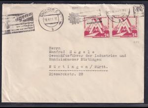 DDR., Fernbrief mit MeF. Mi.-Nr. 282
