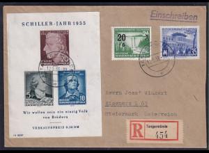 DDR.,Auslandsbrief, mit Mi.-Nr. 448,449 + Block 12