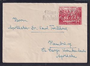 DDR.,Fernbrief, mit EF, Mi.-Nr. 287
