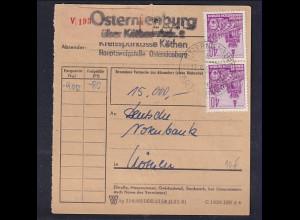 DDR., Wert-Paket mit MeF. Mi.-Nr.583 B
