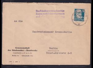 """DDR, Losungsstempel """"Der Friedensvertrag beseitigt......................."""""""
