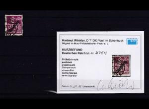 DR., Mi.-Nr. D 75y, gestempelt, Kurzbefund. Winkler