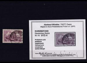 DR. Mi.-Nr. 115 d gestempelt, KB. Winkler