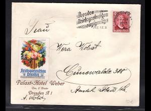 DR. Reklame-Brief, Reichsgartenschau, Dresden.