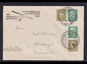 DR., Fernbrief mit Rhön-Segelflug 1932 befördert.