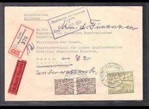 Berlin, R-Eilbote-Ortsbrief mit Mi.-Nr. 48/48 Ua.