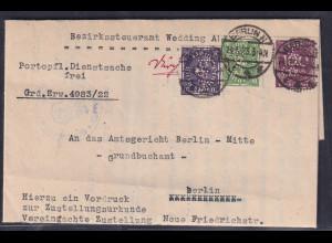 DR., Orts-Dienstbrief aus Berlin mit Firmenlochung