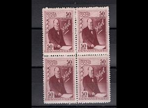 Sowjetunion, Mi.-Nr. 803 postfrisch, 4er Block.