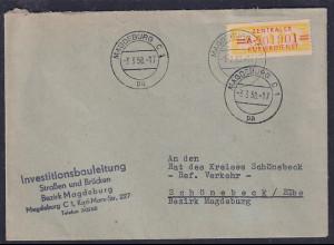 DDR.ZKD-Brief, EF. Mi.-Nr. Dienst-17 A