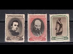 Sowjetunion, Mi.-Nr. 695-97 postfrisch.