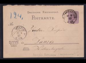 Danzig, DR-Ganzsache P 11 F aus Marienburg Neufahrwasser nach Danzig gelaufen.