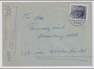 Bund, Fernbrief mit EF. Mi.-Nr. 435 (Marke aus Block3)