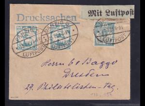 Danzig,Fern-Luftpost-Drucksache Mi.-Nr. 2x 133 + 139, sign. SchülerBPP.