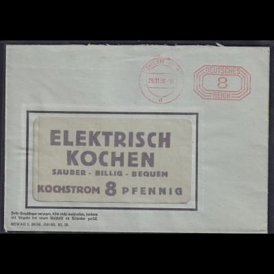 DR.,Reklamebrief Elektrisch Kochen, Bewag
