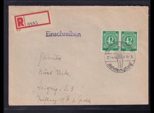 Gemeinschaftausgaben, R-Fernbrief mit MeF. Mi.-Nr. 930