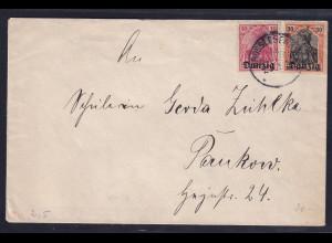 Danzig, Fernbrief mit MiF. Mi.-Nr. 2 + 5 aus Gross Lesewitz