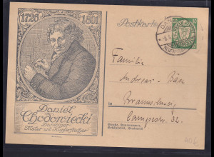 Danzig, Ganzsache Mi.-Nr. P 48 / 01, gestempelt.