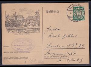 Danzig, Ganzsache Mi.-Nr. P 61, Schloss mit Kirche gestempelt.