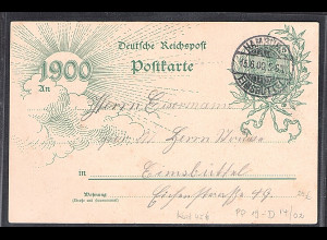 DR, Privat Ganzsache PP19-D14/02, gelaufen.