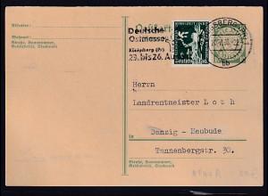 Danzig, Ganzsache Mi.-Nr. P 44 A gestempelt.