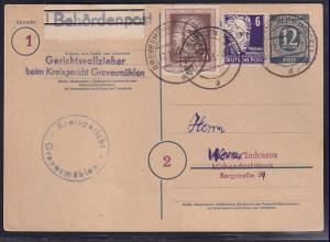 Gemeinschaftausgaben, Ganzsache Mi.-Nr. P 954 als Formular gelaufen