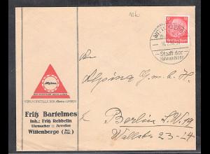 Reklame-Brief, Uhrmacher, Juwelier, F. Bartelmes, Wittenberge