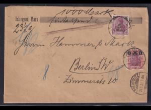 DR.,NN-Brief mit MiF, Mi.-Nr. 155, 156
