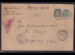 DR.,NN-Brief mit MiF, Mi.-Nr. 150 + 159