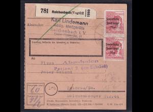 SBZ, Paketkarte mit MeF. Mi.-Nr. 192
