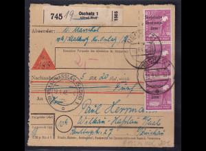 SBZ, Paketkarte mit MeF. Mi.-Nr. 193