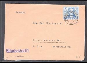 Berlin, Auslandbrief mit EF. Mi.-Nr. 63