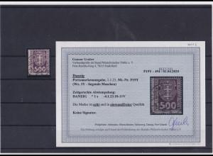 Danzig, Mi.-Nr.P 19Y, gestempelt, Befund G.GruberBPP.