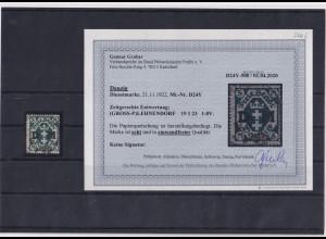 Danzig, Mi.-Nr. D24 Y, gestempelt, Befund, G.GruberBPP.