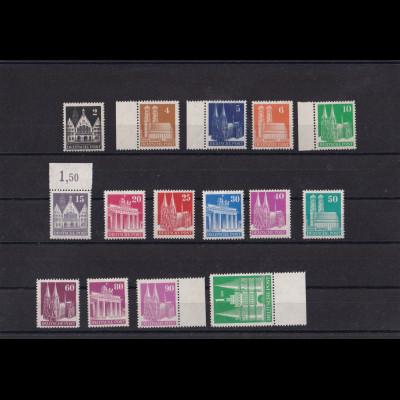 Alliierte Besetzung/Bizone Mi.-Nr. 73-97 II eg, postfrisch.