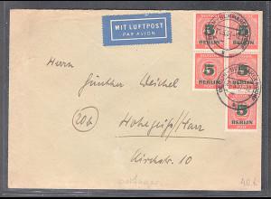 Berlin, Luftpost-Fernbrief mit MeF. Mi.-Nr. 64