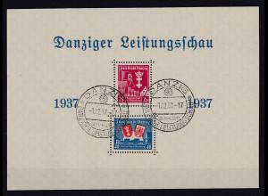 Danzig, Bl.3 PF I gestempelt Kabinettstück, Sign. TworekBPP.