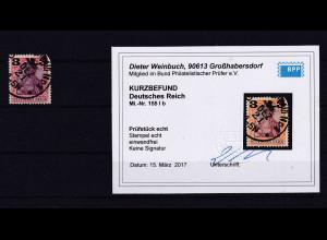 DR., Mi.-Nr. 155 Ib, gestempelt, Kurzbefund. Weinbuch