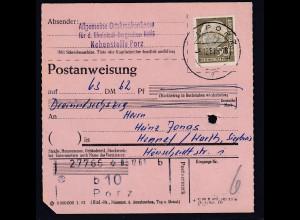 Bund, Postanweisung mit EF MI.-Nr. 261