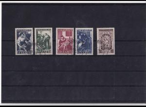 Saarland 1949, Mi.-Nr. 267 - 271, gestempelt, FA. C.GeigleBPP