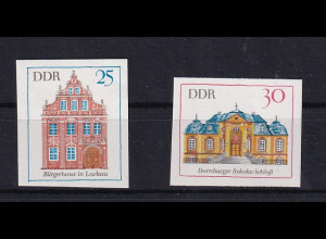 DDR. Mi.-Nr. 1437 - 1438 U als End-Phasendrück, postfrisch.