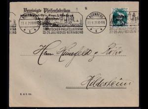 DR., Reklamebrief Erika-Wurzelholz-Pfeifen, Nürnberg