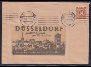All.-Besetzung, Gemein.-Ausgaben, Reklame-Brief der Stadt Düsseldorf von 1947