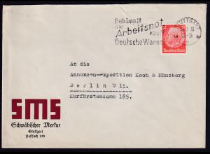 DR, Reklamebrief SMS Schwäbischer Merkur Stuttgart